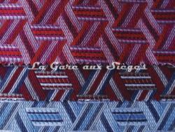 Tissu Lelièvre - Tribu - réf: 722 - Coloris: 04 Grenadine - 06 ( supprimé ) - 07 Cyan - Voir en grand