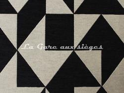 Tissu Deschemaker - Cubisme - réf: 103956 Charbon - Voir en grand