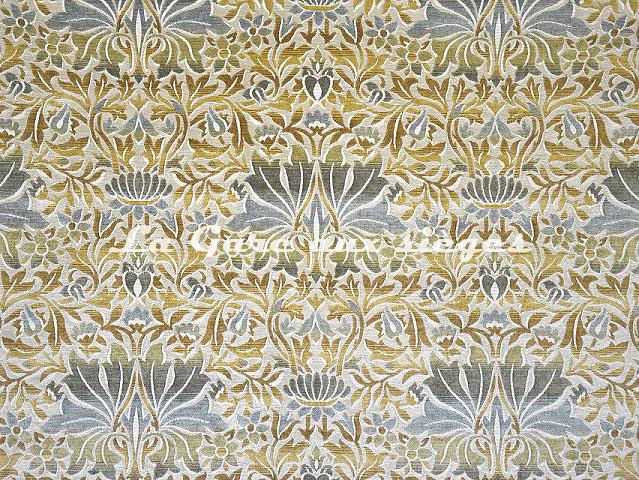 Tissu Casal - Mucha - réf: 16206-1072 Ciel Ivoire - Voir en grand