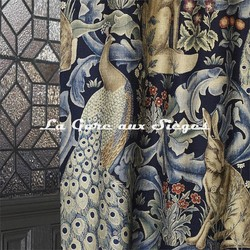 Tissu William Morris - Forest - réf: 222534 Indigo ( détail ) - Voir en grand