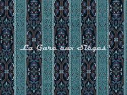 Tissu House of Hackney - Mamounia velvet - Coloris: Midnight/Azurite - Voir en grand
