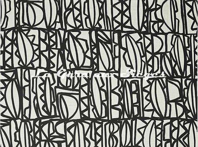 Tissu Pierre Frey - Symboles - réf: F3382.001 - Voir en grand