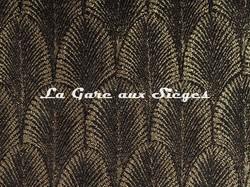 Tissu Pierre Frey - Palmette - réf: F3095.004 Corbeau - Voir en grand
