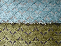 Tissu Osborne & Little - Giotto - réf: F6141 - Coloris: 05 Aqua & 06 Lime - Voir en grand