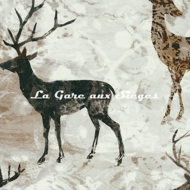 Tissu Casamance - Elaphe - réf: 4235.0222 Taupe - Voir en grand