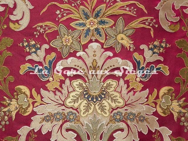 Tissu Tassinari & Châtel - Brocart Verdi - réf: 1684.03 Rubis - Voir en grand