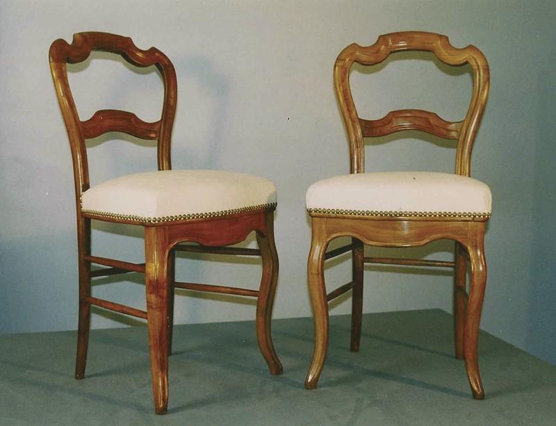 Paire de chaises louis philippe en merisier pi ces uniques la gare aux si ges - Chaises louis philippe cannees ...