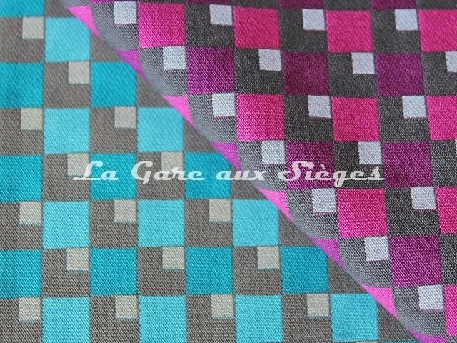 Tissu Casal - Pop - réf: 13429 - Coloris: 11 Archipel & 90 Orchidée - Voir en grand