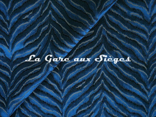 Tissu Jim Thompson - Tigris velvet - réf: J3725/005 Lapis - Voir en grand