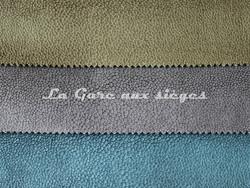 Tissu Métaphores - Shagreen - réf: 71161 - Coloris: 012 Hêtre - 003 Carbone - 015 Bleu vert - Voir en grand
