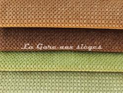 Tissu Chanée Ducrocq - Caviar - Coloris: 2491 Taupe - 2492 Chocolat - 2478 Mousse - 2481 Cèdre - Voir en grand