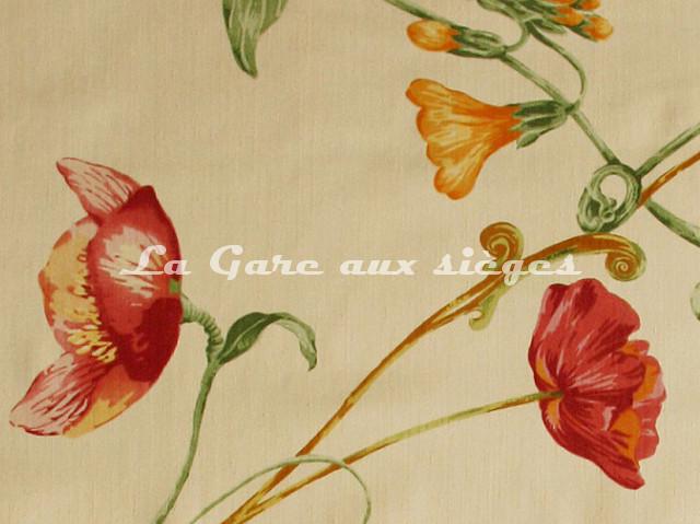 Tissu Bélinac - Garden - réf: 1023/3923-01 Orange clair/Orange/Rouge - Voir en grand