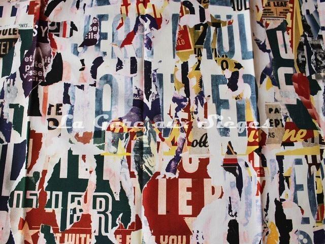 Tissu Jean Paul Gaultier - Métropolitain - réf: 3472-02 Multicolore - Voir en grand