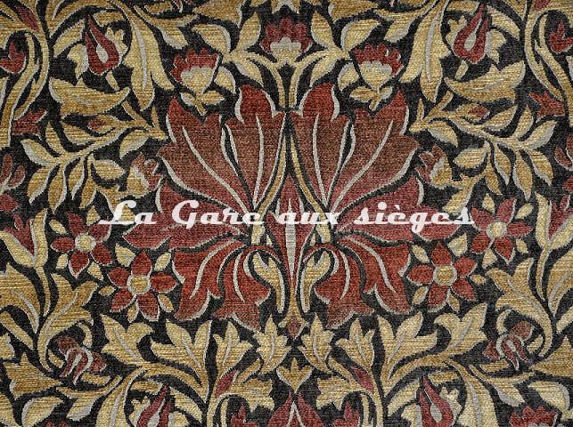 Tissu Casal - Mucha - réf: 16206-7555 Rouge Marron - Voir en grand