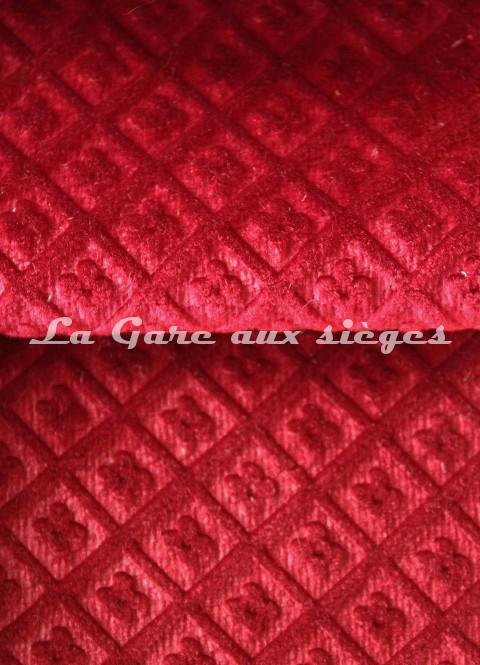 Tissu Chanée Ducrocq - Velours gaufré Matignon - Coloris: 984 Ecarlate - 985 Pourpre - Voir en grand