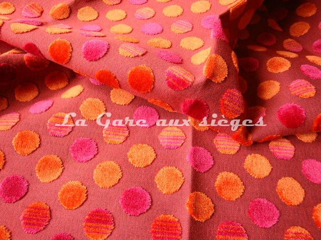 Tissu Jéro - Diabolo - réf: 9293 - Coloris: 1893 Volcan - Voir en grand