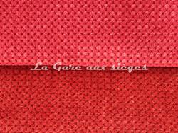 Tissu Chanée Ducrocq - Caviar - Coloris: 107 Cardinal - 108 Paprika - Voir en grand