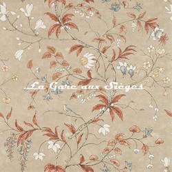 Papier peint Zoffany - Chambalon Trail - réf: 312852 Sunstone/Linen - Voir en grand