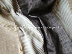 Tissu Luciano Marcato - Nora - réf: LM14627 - Coloris: 4055 Dorato/Moka - Voir en grand