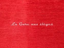 Tissu Deschemaker - Velours Colombo - Coloris: 3060 Vermillon - Voir en grand