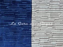 Tissu Osborne & Little - Bark velvet - réf: F6551 - Coloris: 01 Sapphire & 02 Stone - Voir en grand