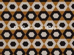 Tissu Camengo - Exentricité - réf: 4194.0373 Cognac - Voir en grand