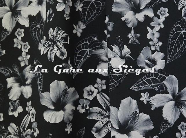 Tissu Jean Paul Gaultier - Honolulu - réf: 3498.01 Noir - Voir en grand