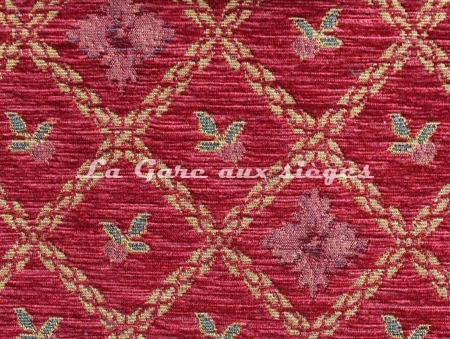 Tissu Amélie Prévot - Rohan - réf: 16076 - Coloris: 75 Rouge - Voir en grand