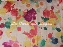Tissu Deschemaker - Velours Splash - Coloris: 3098 Multicolore - Voir en grand