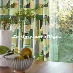 Tissu Scion - Velours Beton coloris Kiwi - Voir en grand