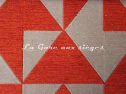 Tissu Deschemaker - Cubisme - réf: 103958 Cuivre - Voir en grand