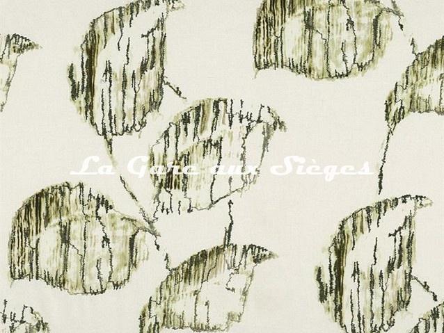 Tissu Casamance - Calendula - réf: 3578.0278 Kaki/vert - Voir en grand