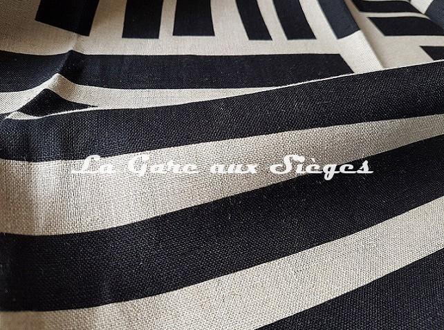 Tissu Pierre Frey - Liz - Noir & Lin ( détail ) - Voir en grand