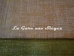 Tissu Harlequin - Burnish - réf: 130694 Ochre/Chalk & 130649 Linden - Voir en grand