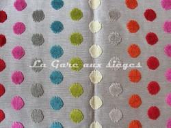 Tissu Deschemaker - Velours Vitoria - réf: 103699 - Multicolore  - Voir en grand