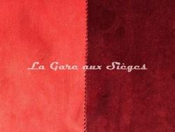 Tissu Casamance - Faveur - réf: 3823.0139 Orange & 3823.0213 Bordeaux - Voir en grand