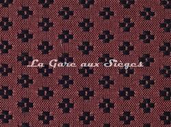 Tissu Le Crin - Nircel 201 - réf: C0201 - Coloris: 040 Rouge Noir - Voir en grand