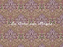 Tissu William Morris - Artichoke Embroidery - réf: 234543 Aubergine/Gold - Voir en grand