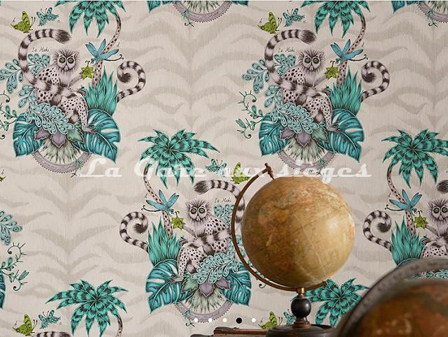 Papier peint Clarke & Clarke - Lemur - Voir en grand