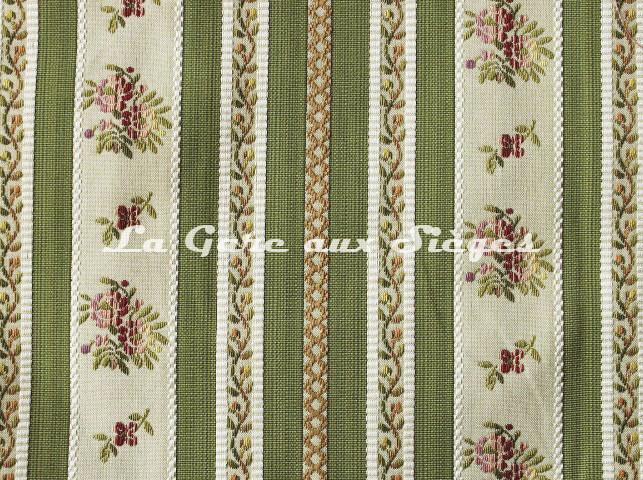 Tissu Chanée Ducrocq - Mirabeau - réf: 8414 Olive - Voir en grand
