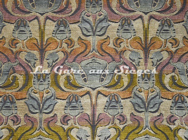 Tissu Casal - Velours Tiffany - réf: 16207-4574 Orangé Beige - Voir en grand