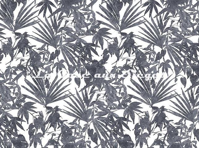 Tissu Rubelli - Home Jungle - réf: 30409.002 Antracite - Voir en grand