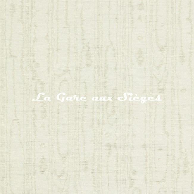Papier peint Zoffany - Watered Silk - réf: 312916 Platinium Grey - Voir en grand