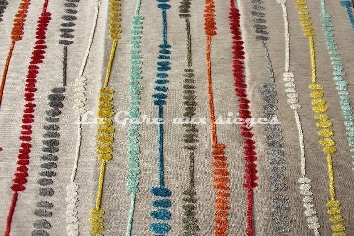 Tissu Deschemaker - Velours Santa Fé - réf: 103869 - Coloris: Multicolore - Voir en grand