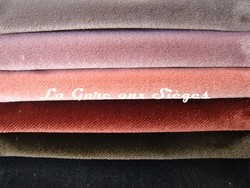 Tissu Rubelli - Velours Martora - réf: 30072 - Coloris: 10 - 11 - 12 - 13 - 14 - 15 - Voir en grand