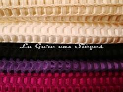Tissu Lelièvre - Velours Bric - réf: 506 - Coloris: 02-01-13-14-15 - Voir en grand