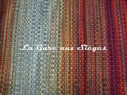 Tissu Harlequin - Blaze - réf: 130646 Tangerine/Aubergine/Gold - Voir en grand