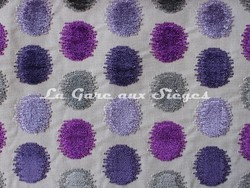 Tissu Osborne & Little - Zelda - réf: F6550-05 - Coloris: Violet/Lavander/Lilac/Dark stone - Voir en grand