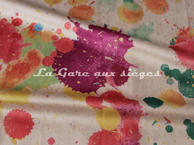 Tissu Deschemaker - Velours Splash - 3098 Multicolore - Voir en grand