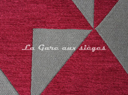 Tissu Deschemaker - Cubisme - réf: 103955 Sangria - Voir en grand